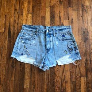 """AE """"vintage hi rise"""" shorts"""